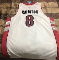 Autographed Basketball jersey CALDERON-Brand new.  Size is xtra large