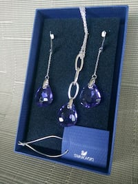 silver and purple gemstone necklace Mississauga, L4T 2Y7