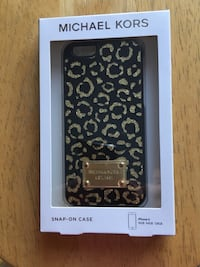 Black and brown leopard michael kors iPhone 6 case