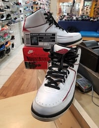 Air Jordan 2 QF Chicago Siz Comes in Preowned condition with a Replacement box. Will only meet up in my store at Wheaton mall. The store is called Shoe Stars and We are located near Costco on the second floor. Message me for any questions or text me at 24