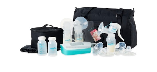 Breast pump kit with accessories
