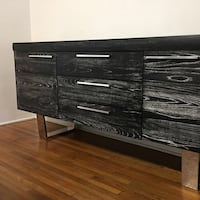 black and gray wooden sideboards
