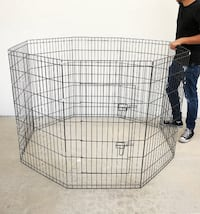 """New $40 Foldable 42"""" Tall x 24"""" Wide x 8-Panel Pet Playpen Dog Crate Metal Fence Exercise Cage Play Pen South El Monte"""