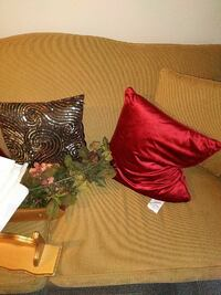 Couch without the pillows in picture