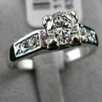One Carot Lab Created Diamond Ring Sterling Silver Nashville, 37076