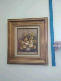 brown wooden framed painting of flowers Bakersfield, 93309