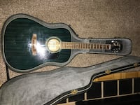 Green Walden guitar in case Toronto, M9C