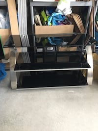black glass top TV stand Milton, L9T 7S2