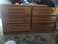 Wooden bed set and dresser with mirror  Oakland, 94609