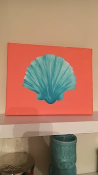 blue clamshell painting