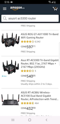 asus router  RT AC 5300 gaming media pc Edmonton, T6H 3A7