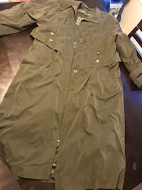 Green/gray Fleet Street trenchcoat with removable lining Denver, 80206