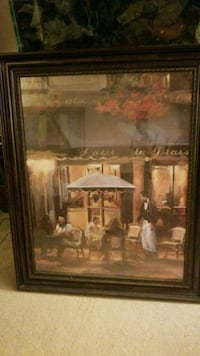 brown wooden framed painting of house Columbia, 21044
