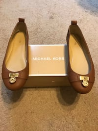 Michael Kors Brown Leather Flats- Size 8