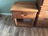 brown wooden single-drawer side table Essex, 21221