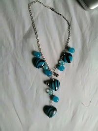 blue and silver pendant necklace Thornton, 80233