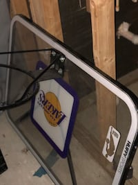 White and black lakers basketball nba backboard and hoop for outside or indoor  Clinton, 20735