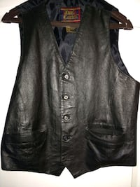 Vest, real leather, size medium Jackson, 08527