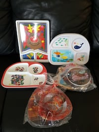 Kids plastic dishes
