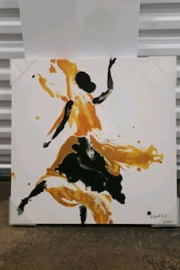 Gold and black abstract painting Severn, 21144