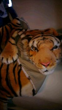 Faux fur tiger child blanket  adorable