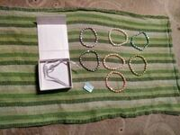 7 piece cultured fresh water pearl bracelets new  Summerville