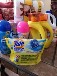 Tide and Downy detergent bottles