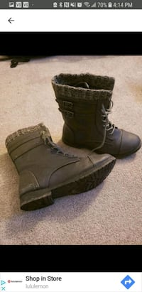 pair of brown leather boots Regina, S4R 6T3