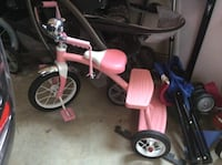 toddler's pink and white trike WALDORF