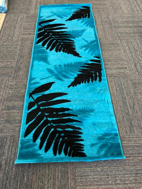 blue and black area rug