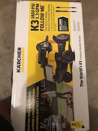 Karcher k3 follow me 1800 Psi electric pressure washer brand new with box  Louisville, 40241