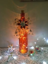 New hand decorated bottle light