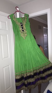 Indian anarkali suit with pajami and dupatta