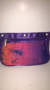 women's purple and black leather wristlet Beaconsfield, H9W 5X1