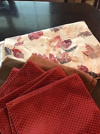 red and white floral bed sheet Verona, 41092