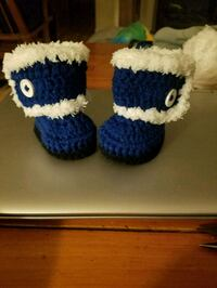 blue and white knitted shoes Villa Rica, 30180