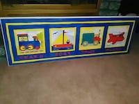 Wooden wall picture for nursery * $15.00