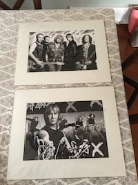 "2 Def Leppard Sketches New 20x16"" matted sealed"