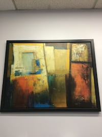 Large abstract painting with frame  Los Angeles, 90014