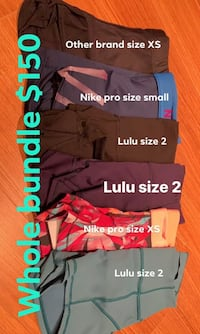Lulu /Nike athletic shorts bundle Toronto, M9B 1G5