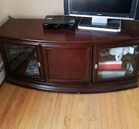 brown wooden TV stand cabinet only Babylon, 11735