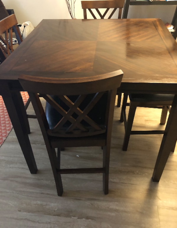 Rectangular brown wooden table (table only)