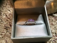 White gold and purple gemstone ring Mississauga, L5E 2P5