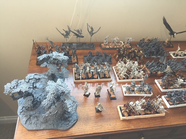 Warhammer Wood Elves army + tons of hobby supplies