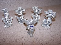 5 PEWTAR FAIRIES - amazing beautiful pieces Vaughan