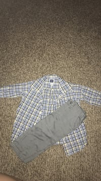 white, black, and white plaid button-up long-sleeved shirt Duquesne, 15110