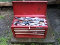 Craftsman tool box 4 drawer with lock and key and tools $75 for all