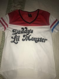 white, red, and blue Daddy's Lil Monster v-neck t-shirt Oxnard, 93036