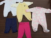 baby's three footie pajamas and two pants Trois-Rivières, G9B 1E7