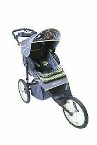 gray and beige printed jogging stroller